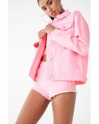 3f3ff736e2ff0b Forever 21 - Women s Neon Denim Jacket - Lyst