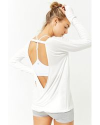 Forever 21 - Active Plunging Back Top - Lyst