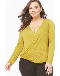 c168969d040050 Forever 21 - Women's Plus Size Surplice Top - Lyst