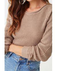 Forever 21 Raglan Sleeve Sweater - Natural