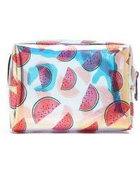 Forever 21 Watermelon Print Makeup Bag , Red/multi