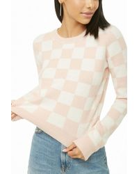 Forever 21 - Women's Brushed Knit Checkered Sweater Sweater - Lyst