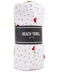 Forever 21 - Cherry Print Polka Dot Beach Towel - Lyst