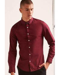 Forever 21 - Buttoned Curved Hem Shirt - Lyst