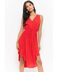 Forever 21 - Curved Hem Sleeveless Dress - Lyst