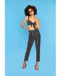Forever 21 - Stripe Paperbag Pants - Lyst