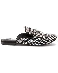 Forever 21 - Embellished Faux Suede Loafer Mules - Lyst