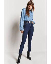 Forever 21 - High-waist Skinny Jeans - Lyst