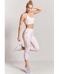 Forever 21 - Active Marble Print Capri Leggings - Lyst