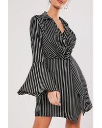 Missguided - Pinstriped Mini Dress At - Lyst