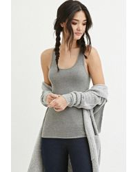 Forever 21 - Classic Ribbed Racerback Tank - Lyst