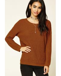 Forever 21 - Purl Knit Cutout Jumper - Lyst