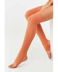 Forever 21 Ribbed Knit Leg Warmers , Ginger - Orange