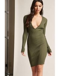 Forever 21 - Ribbed Bodycon Dress - Lyst