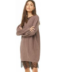 Forever 21 - Ribbed Crisscross Mini Dress - Lyst
