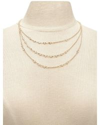 Forever 21 - Women's Rhinestone Layer Necklace - Lyst
