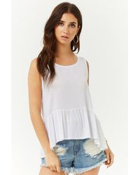 Forever 21 - Tie-back Ruffled Top - Lyst