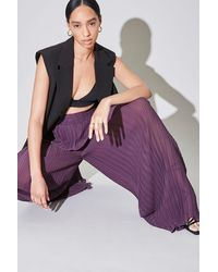Forever 21 Pleated Palazzo Pants - Purple