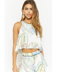 Forever 21 - Floral Crop Top - Lyst