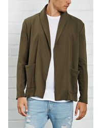 Forever 21 - French Terry Cardigan - Lyst