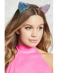 Forever 21 - Sequined Cat Ear Headband - Lyst