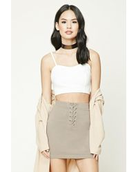 Forever 21 - Lace-up Mini Skirt - Lyst