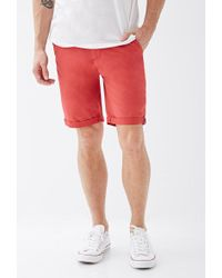 Forever 21 - Cuffed Chino Shorts - Lyst