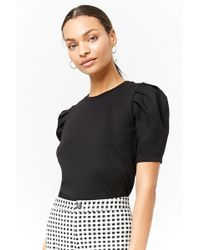 Forever 21 - Puff-sleeve Top - Lyst