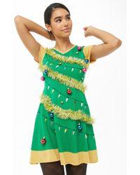 Forever 21 - Christmas Tree Mini Dress - Lyst