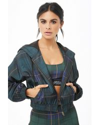 Forever 21 - Active Plaid Windbreaker - Lyst