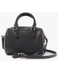 Forever 21 Faux Leather Crossbody Bag - Black