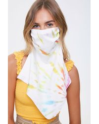 Forever 21 Tie-dye Face Covering - White