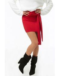 Forever 21 - Tie-front Mini Skirt - Lyst
