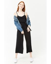 Forever 21 - Belted Culotte Jumpsuit - Lyst