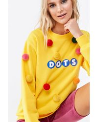 Forever 21 Dots Graphic Sweatshirt - Yellow