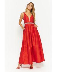 Forever 21 - Faux Gem-embellished Taffeta Gown - Lyst