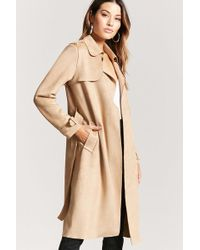 Forever 21 - Faux Suede Trench Coat - Lyst