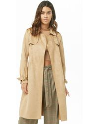 Forever 21 - Trench in pelle sintetica scamosciata - Lyst