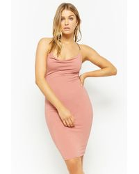 Forever 21 - Cowl Neck Bodycon Dress - Lyst
