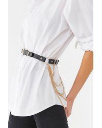 Forever 21 Chain Accent Waist Belt , Black