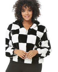 Forever 21 - Women's Plus Size Chequered Faux Fur Anorak Jacket - Lyst