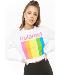 68bb3e550efb9 Lyst - Forever 21 Polaroid Tube Crop Top in Black
