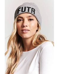 Forever 21 - Futr Graphic Foldover Beanie - Lyst