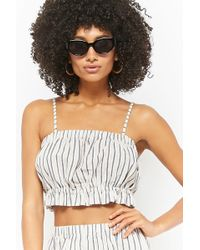 7c8d5246e79 Forever 21 - Women s Striped Cami Crop Top - Lyst