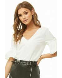 Forever 21 - Trumpet-sleeve Top - Lyst