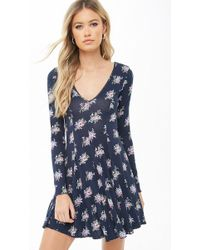 Forever 21 - Floral Print Skater Dress - Lyst