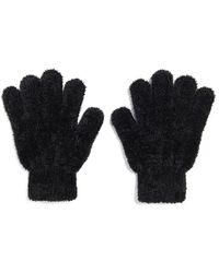 Forever 21 Chenille Knit Gloves , Black