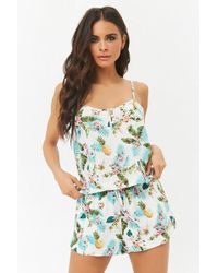 Forever 21 - Tropical Cami & Shorts Pyjama Set - Lyst