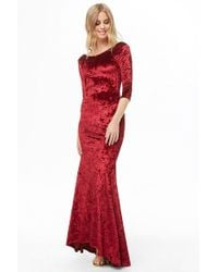 Forever 21 - Crushed Velvet Maxi Dress - Lyst