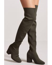 Forever 21 - Textured Over-the-knee Boots - Lyst